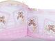 Бортик Alis 360x40 со съемными чехлами (бязь, розовый) -