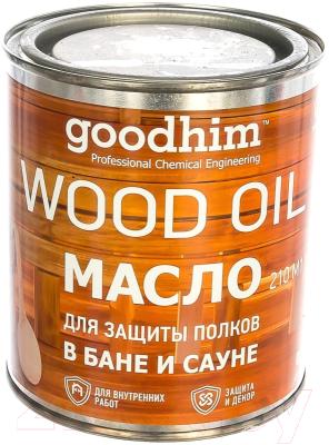 Масло для древесины GoodHim Для защиты полков в бане и сауне