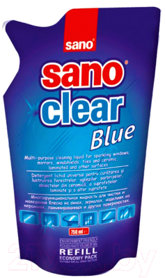 Средство для мытья стекол Sano Clear для стекол запаска