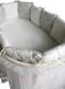 Комплект постельный в кроватку Lappetti Эстель 5 (серый) -