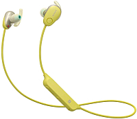 Наушники-гарнитура Sony WI-SP600N (желтый) -