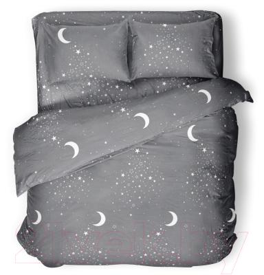Комплект постельного белья Samsara Звездное небо на сером фоне 200
