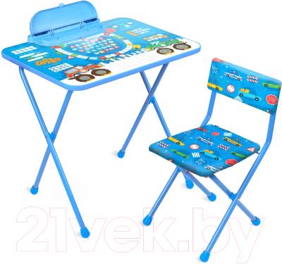 Комплект мебели с детским столом Ника КП2/БГ Большие гонки