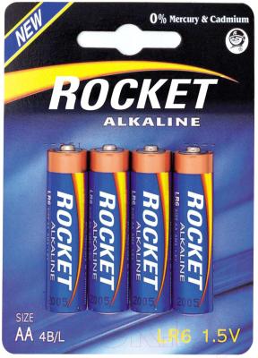 Комплект батареек Rocket LR6 4BL