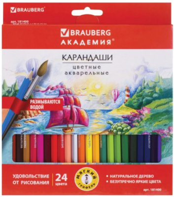 Набор акварельных карандашей Brauberg Академия / 181400