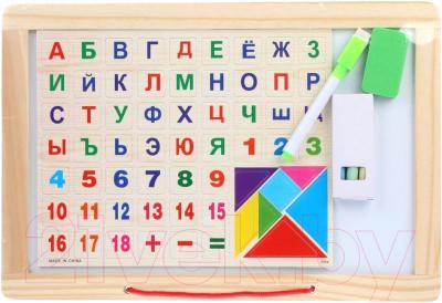 Доска для рисования Наша игрушка Алфавит, цифры, пазлы / 151