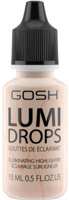 помада gosh gosh go025lwcjyp2 Хайлайтер GOSH Copenhagen Lumi Drops флюид 002 Vanilla