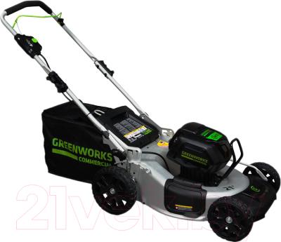 Газонокосилка электрическая Greenworks GD82LM53 газонокосилка greenworks 2509607 g24lm32k2