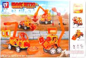 Конструктор магнитный Наша игрушка Строительная техника / LT6001