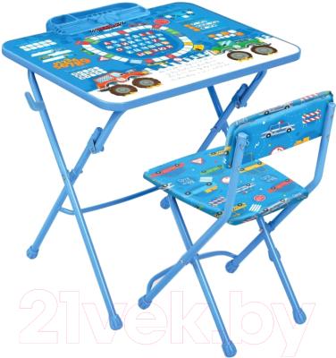 Комплект мебели с детским столом Ника КУ1/ БГ Большие гонки