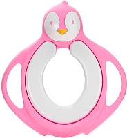 Детская накладка на унитаз Froebel Пингвин (розовый) -