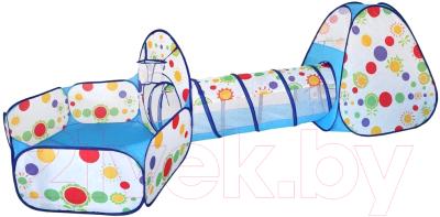 Детская игровая палатка Наша игрушка Манеж с баскетбольной корзиной и туннелем / 985-Q65