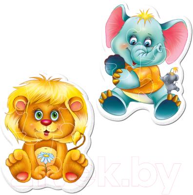 Набор пазлов Vladi Toys Пазлы на магните. Baby puzzle Зоопарк / VT3208-01