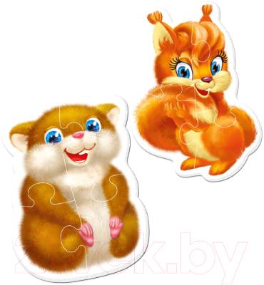 Набор пазлов Vladi Toys Пазлы на магните. Baby puzzle Пушистики / VT3208-04