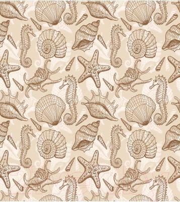 Шторка-занавеска для ванны JoyArty Морские декорации / sc_13526