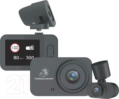 Автомобильный видеорегистратор Tomahawk FHD X4 GPS 2