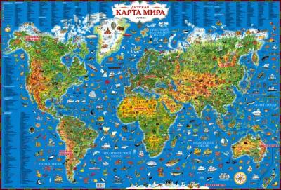 Настенная карта АСТ Детская карта мира