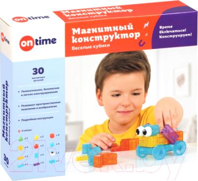 Конструктор магнитный On Time Веселые кубики / 45039