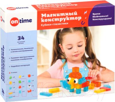 Конструктор магнитный On Time Кубики-глазастики / 45038