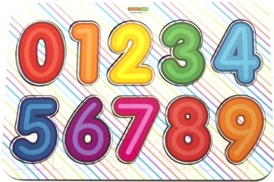 Развивающая игрушка WoodLand Toys Вкладыш деревянный Изучаем цифры / 091104