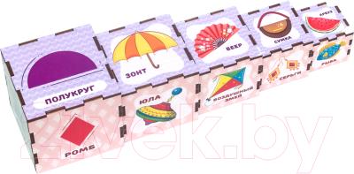 Развивающая игрушка WoodLand Toys Сортер-пирамидка Формы / 098107