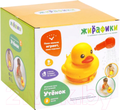 Фото - Игрушка для ванной Жирафики Утенок / 939582 игрушка для ванной огонёк утенок с 355 желтый красный