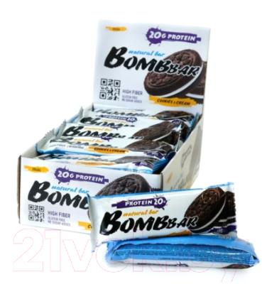 Протеиновые батончики Bombbar Печенье/крем