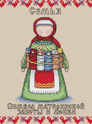 Набор для вышивания М.П.Студия Славянский оберег. Семья / М-113м