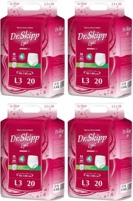 Трусы впитывающие для взрослых Dr.Skipp Light L3