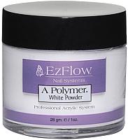 Акриловая пудра для ногтей EzFlow A-Polymer Truly White Acrylic Powder (21г) -