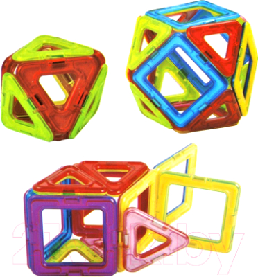 Конструктор магнитный Наша игрушка 701 конструктор shantou gepai наша игрушка 3d магнитный 52 детали 703 631105