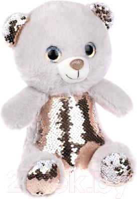 Фото - Мягкая игрушка Fluffy Family Мишка с пайетками / 681812 мягкая игрушка fluffy family мишка зефирка голубая 19 см 681866