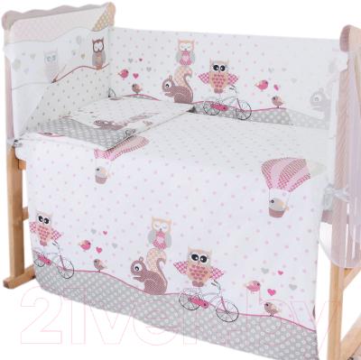 Простыня детская Баю-Бай Раздолье / ПР12-Р1 (розовый)