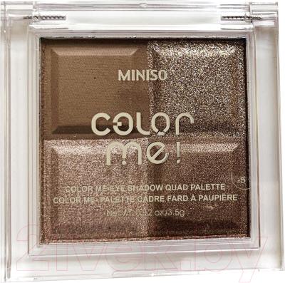 Палетка теней для век Miniso Color Me Quad Palette №12 / 1107 guerlain palette golden bee палетка теней для век