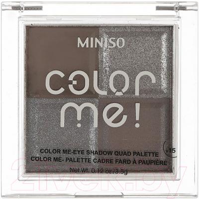 Палетка теней для век Miniso Color Me Quad Palette №15 / 1138 guerlain palette golden bee палетка теней для век