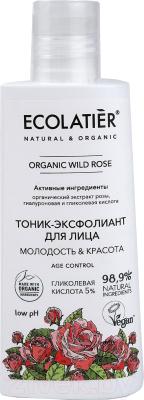Тоник для лица Ecolatier Green Wild Rose эксфолиант