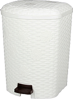 Мусорное ведро Альтернатива Плетенка М2347 (белый) -
