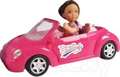 Кукла с аксессуарами Qunxing Toys Лия в автомобиле / 4610
