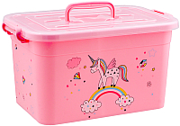 Ящик для хранения Полимербыт Радуга 81001 (розовый) -