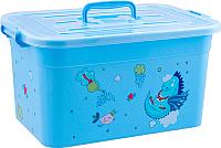 Ящик для хранения Полимербыт Радуга 80901 (голубой) -