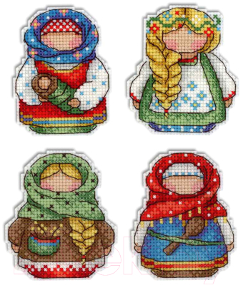 Набор для вышивания М.П.Студия Русские обереги. Магниты / Р-338М