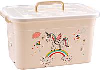 Ящик для хранения Полимербыт Радуга 80901 (белый) -