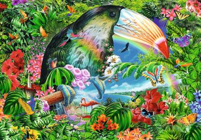 Пазл Trefl Тропические животные / 40014