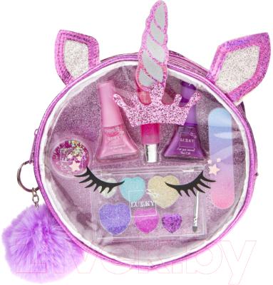Набор детской декоративной косметики Lukky Бьюти-Дизайн в косметичке Единорог / Т20734