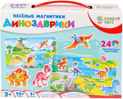 Фото - Развивающая игрушка Bright Kids Веселые магнитики. Динозаврики / ИН-5523 bright kids развивающая игра угадайки рыжий кот ин 7617 рк