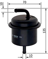 Топливный фильтр Bosch 0986450106 -