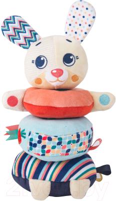 Развивающая игрушка Happy Snail Пирамидка Зайка Лаки / 20HS03PRR