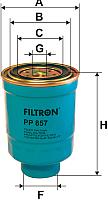 Топливный фильтр Filtron PP857 -