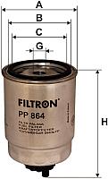 Топливный фильтр Filtron PP864 -