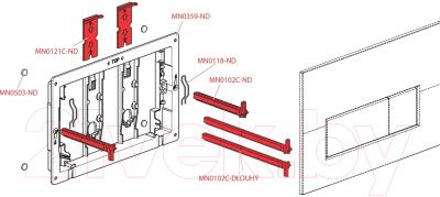 Кнопка для инсталляции Alcaplast M571 (хром/глянец)